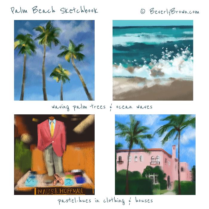 Palm Beach Colors Sketchbook by Beverly Brown   www.beverlybrown.com