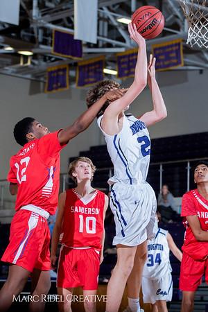 Broughton boys JV basketball vs Sanderson. February 11, 2019. 750_5740