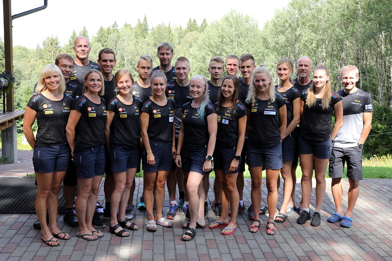 Suomen joukkue MM-suunnistuksissa 2018