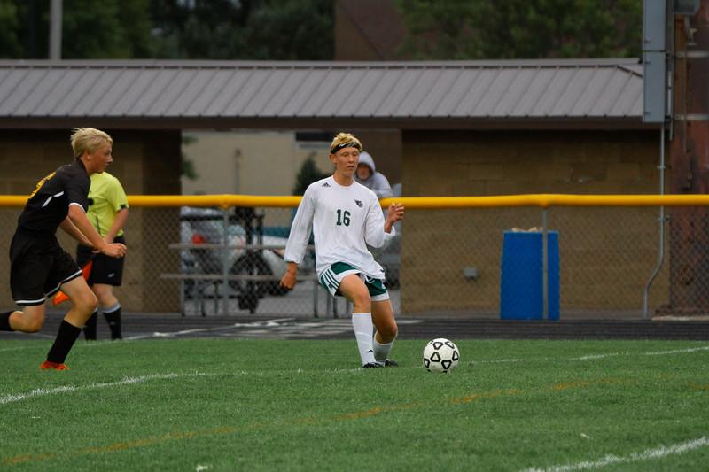 Holy Family Boys Varsity Soccer vs. Hutchinson, 9/26/19: Rory Johnson '20 (16)