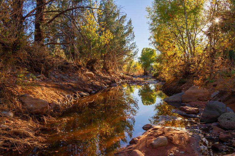 Sedona Creek with Fall Colors.