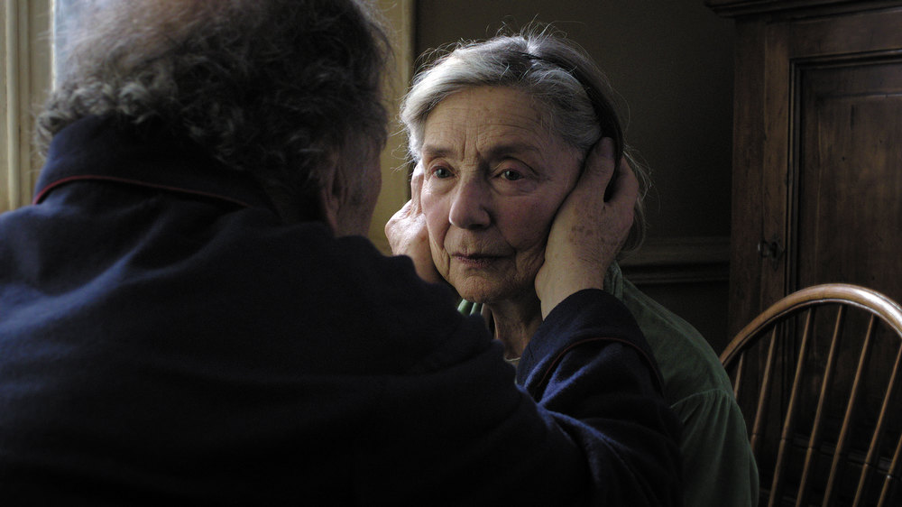 Description of . Emmanuelle Riva as Anne (right) and Jean-Louis Trintignant as Georges in