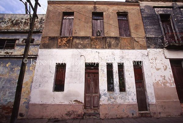 CUBA, Camaguey. Original Tifereth Israel Synagogue (ruins) and environs. (2008)