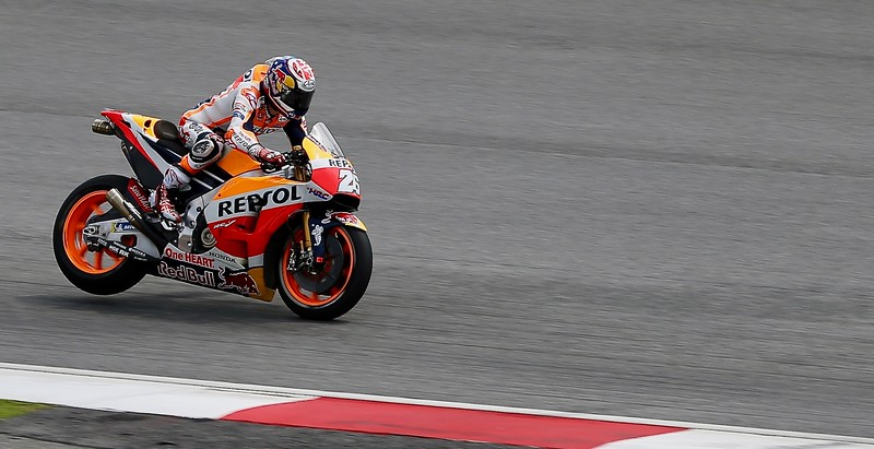 Dani Pedrosa, Repsol Honda Team during day one of official MotoGP testing at Sepang International Circuit, Malaysia 28th January 2018. Photo by John Stewart/SportDXB