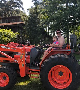Tractors and swimming with cousins