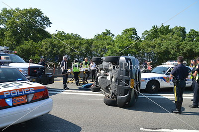 20130620 - Manhasset - Overturned Auto & Motorcyclist Down
