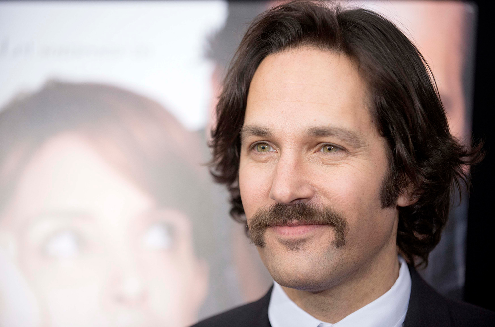 """. Cast member Paul Rudd poses at the premiere of \""""Admission\"""" in New York, March 5, 2013. REUTERS/Keith Bedford"""