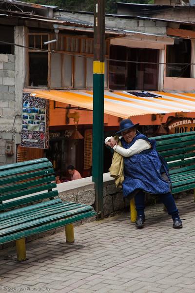 A woman in Aguas Calientes, Peru.
