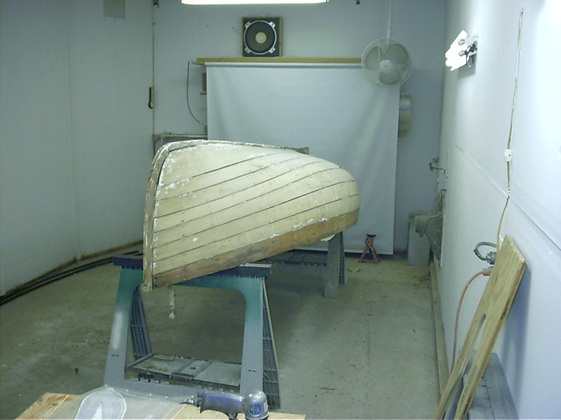 Starboard side stripped.