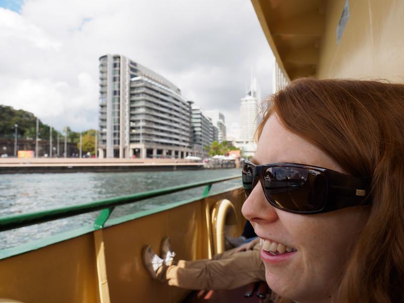 Kris on ferry