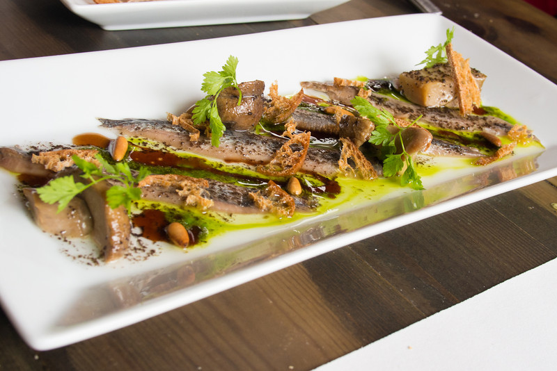 Anchovies with wild mushrooms fir tree honey and truffle.jpg