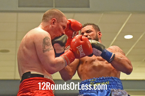 Bout 3  Angel Figueroa, Cleveland, OH (blue wraps)  vs Vincent O'Neill, Youngstown, OH  (red wraps)  144 lbs.