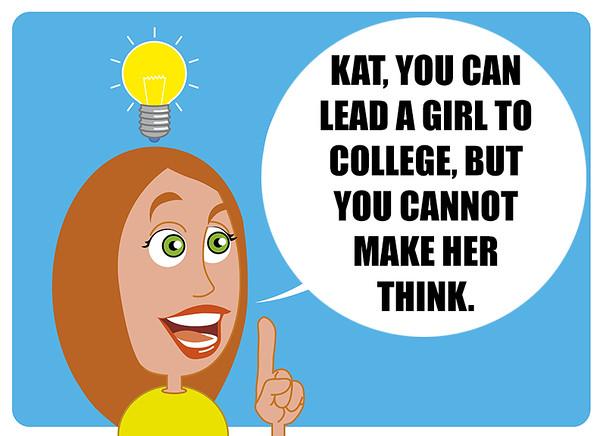 Woman have an idea