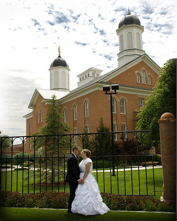 Vernal Utah Temple Wedding