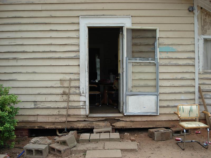 """A """"before"""" shot of side door. ck"""