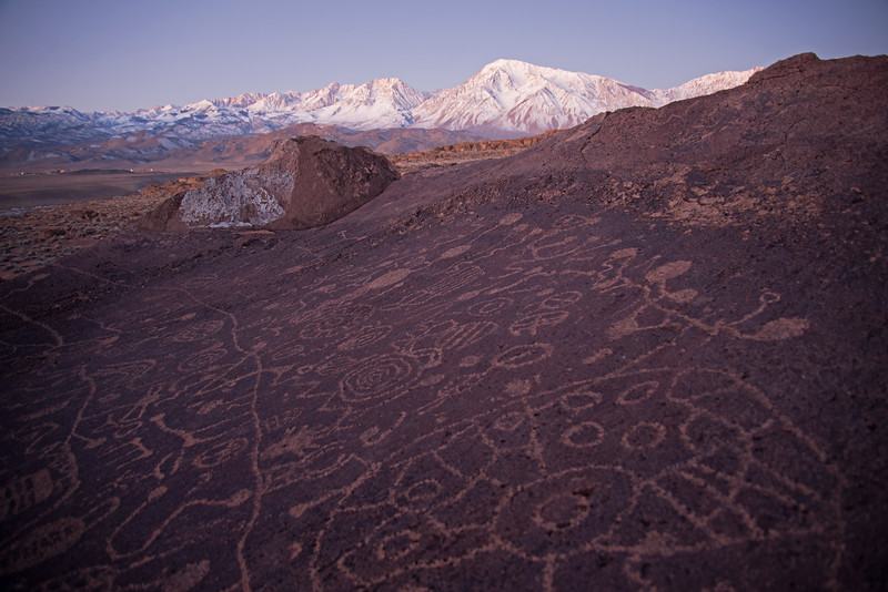 Ancient petroglyphs in a remote spot near Bishop, California.