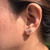 .52ctw Carre Cut Diamond Stud Earrings 7
