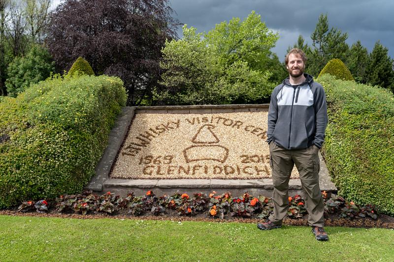 Elliot at Glenfiddich Distillery