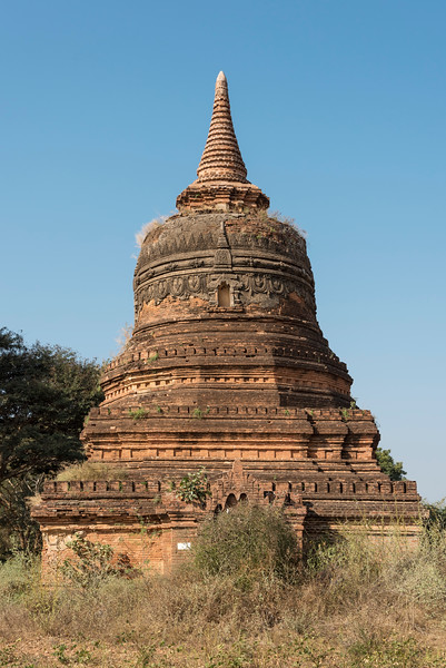 Stupa on the central plain of Bagan, Burma - Myanmar
