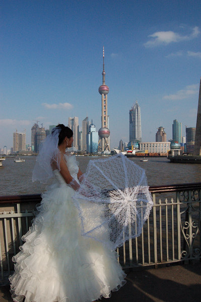"Shanghai, China: ""It's a Nice Day for a White Wedding..."""