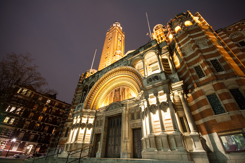 Westminster Cathedral at night