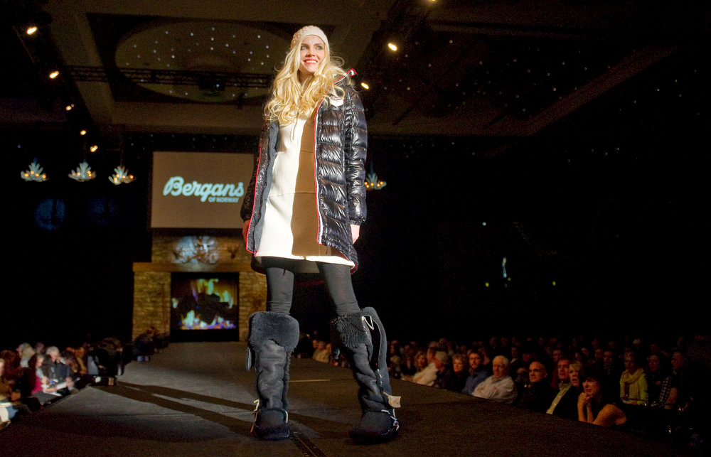 Description of . Bergans of Norway snow fashion,  as the SIA Snow Show hosted its 2013 Snow Fashion & Trends Show at the Colorado Convention Center  in downtown Denver  on Wednesday, January 30, 2013.  (Photo By Cyrus McCrimmon / The Denver Post)