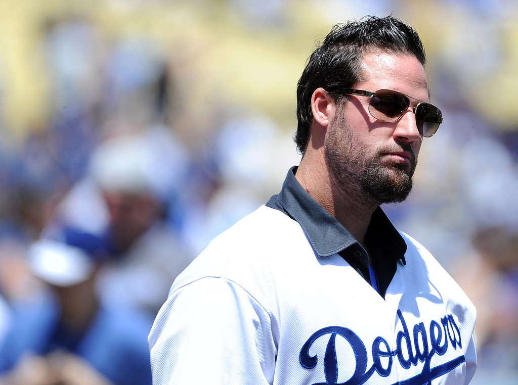 . Former Dodger greats Eric Gagne prior to a Major league baseball game against the San Francisco Giants on Saturday, May10, 2013 in Los Angeles.   (Keith Birmingham/Pasadena Star-News)