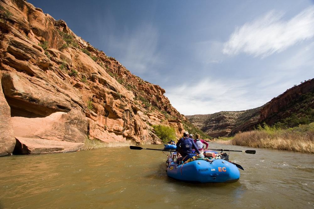 . The remote Dolores River offers plenty of adventures besides rafting, including side canyons for hiking and climbing.  (Provided by Colorado River Outfitters Association)