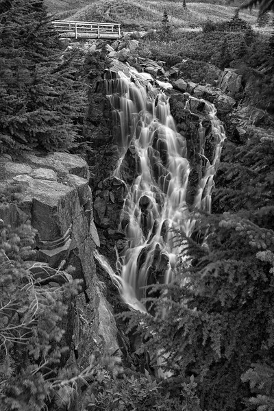Myrtle Falls in Monochrome