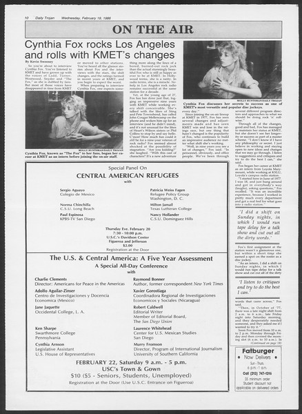 Daily Trojan, Vol. 100, No. 27, February 19, 1986
