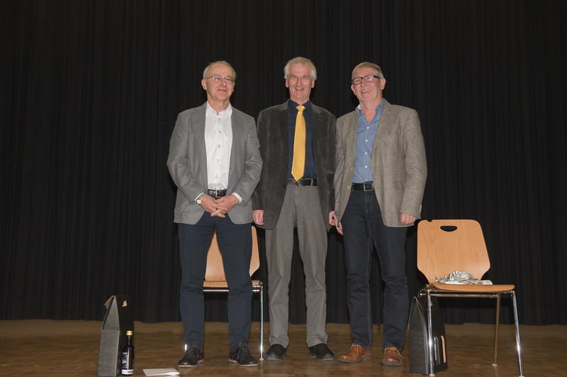 Xaver Vogel mit Pius Kunz und Josef Steiner