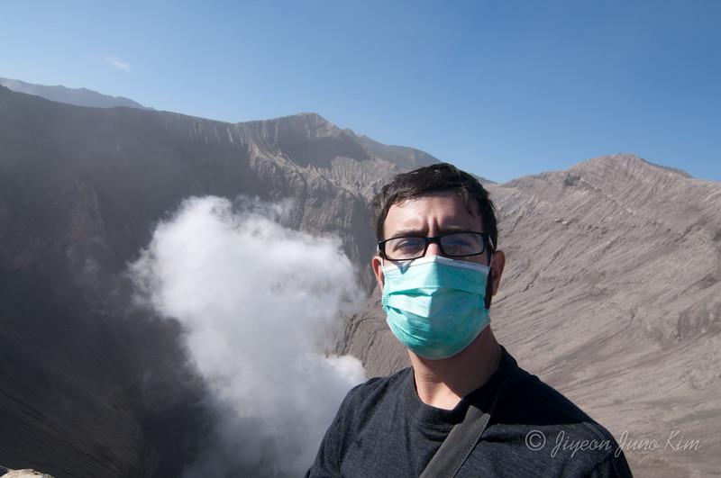 Stephen at Mt.Bromo