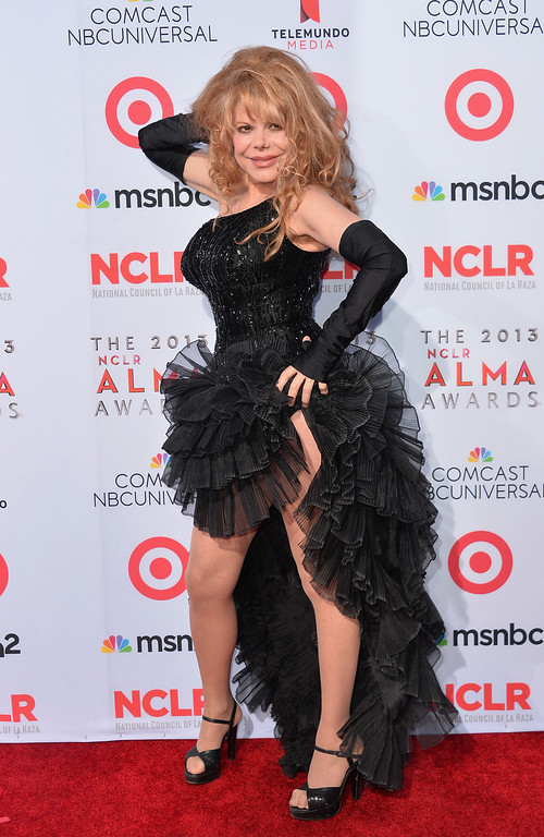 . PASADENA, CA - SEPTEMBER 27:  Actress/guitarist Charo arrives at the 2013 NCLR ALMA Awards at Pasadena Civic Auditorium on September 27, 2013 in Pasadena, California.  (Photo by Alberto E. Rodriguez/Getty Images for NCLR)