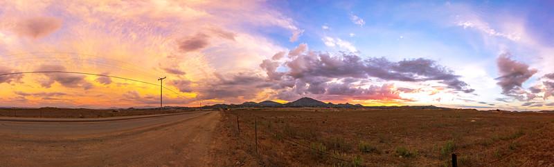 Ramona Grasslands Preserve Sunset Panorama
