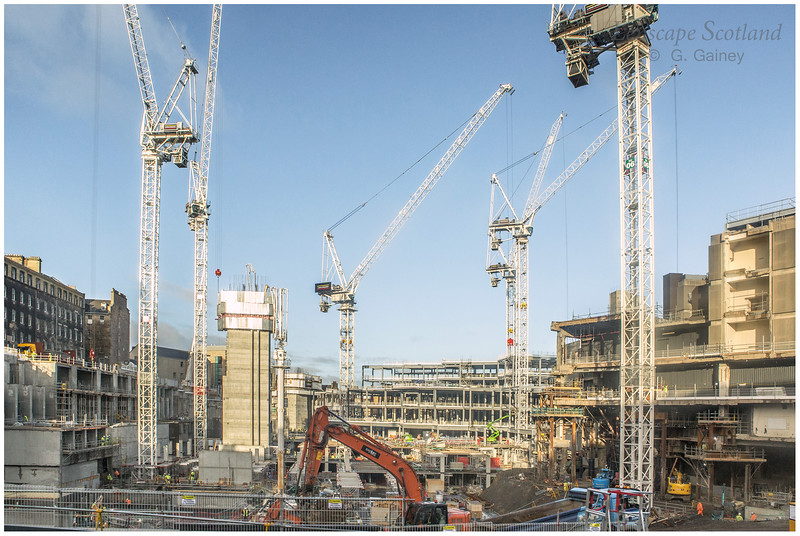 Cranes on site at the St. James Quarter redevelopment (2)