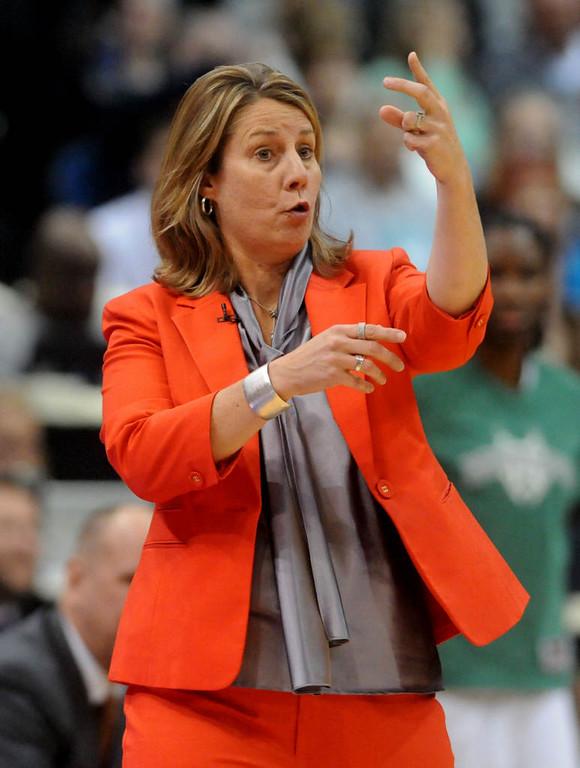 . Minnesota head coach Cheryl Reeve during the first quarter. (Pioneer Press: Sherri LaRose-Chiglo)