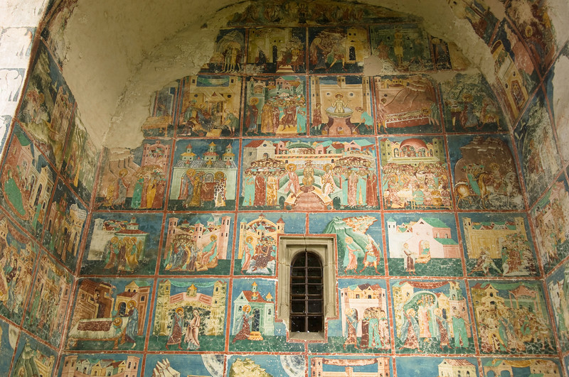 Church in Arbore, Southern Bucovina, Moldavia, Romania