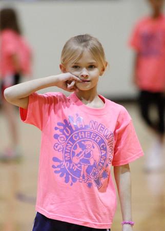 SNHS Boys Basketball vs TC - Homecoming - Mini Cheer 2014