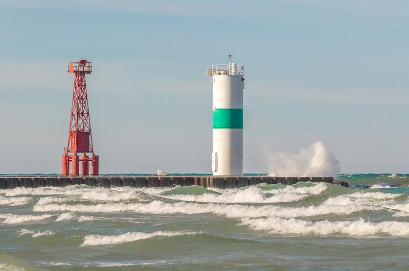 Pentwater Pier Lighthouse