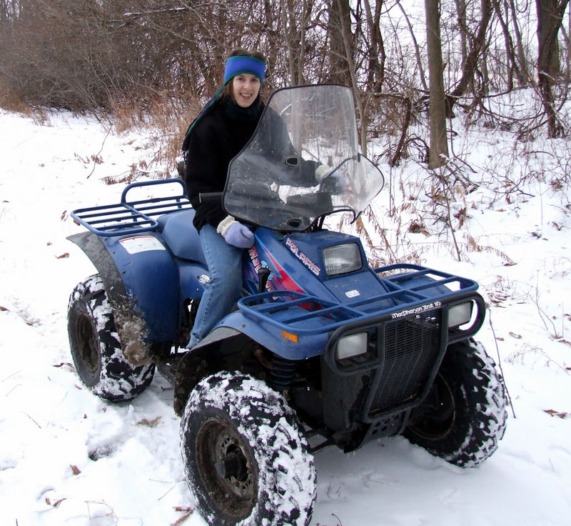 Ellen on the 4 wheeler