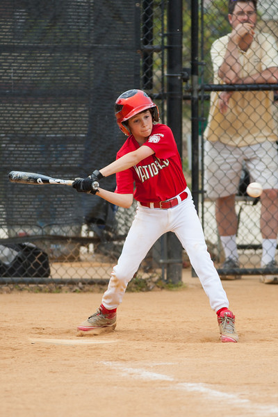 Luke at bat in the top of the 1st inning. The Nationals started out their season with a 4-1 win over the Pirates. 2012 Arlington Little League Baseball, Majors Division. Nationals vs Pirates (14 Apr 2012) (Image taken by Patrick R. Kane on 14 Apr 2012 with Canon EOS-1D Mark III at ISO 200, f2.8, 1/1600 sec and 200mm)