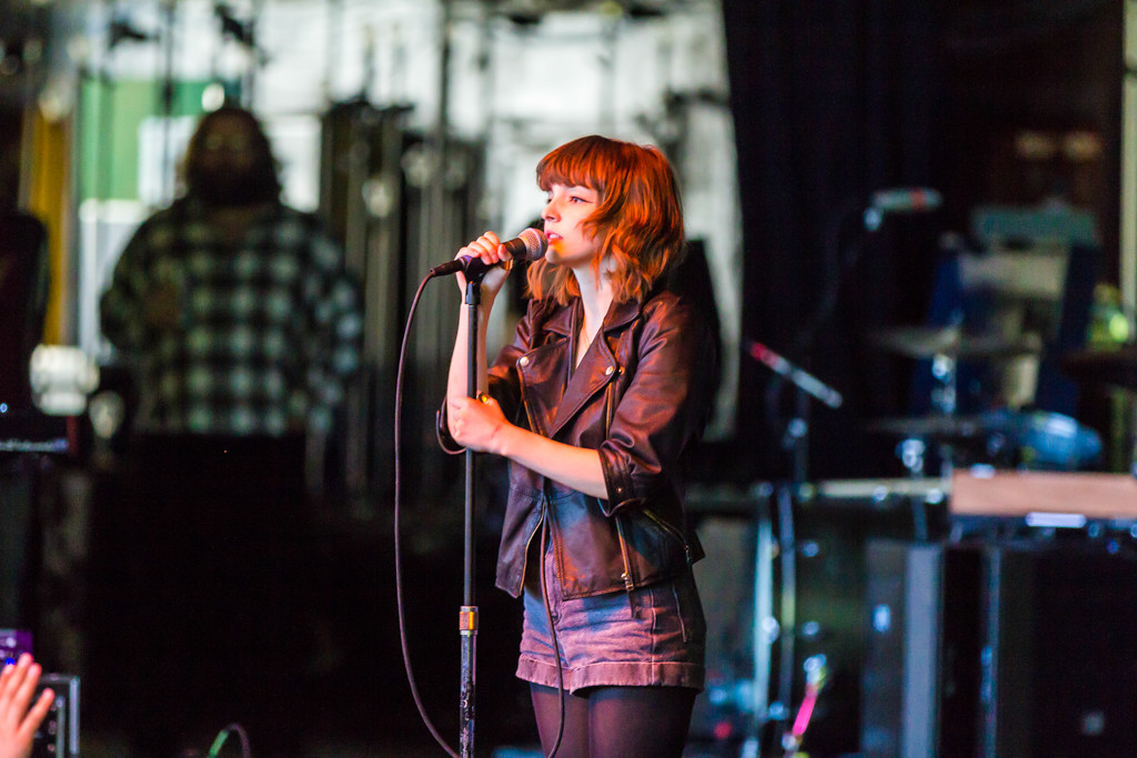 . Chvrches, an Electropop Group from Glasgow, plays to a packed crowd at Laneway Festival.