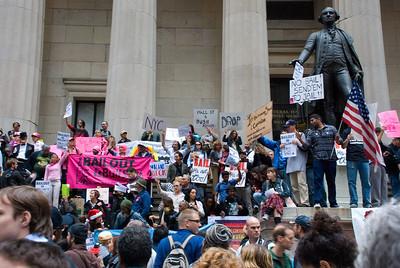 No Bush Bailout - Rally on Wall Street