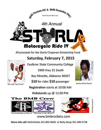BMB Rockets & Rockettes 4th Annual Starla Charity Ride