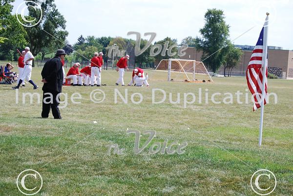 Aurora Town Base Ball vs. DuPage Plowboys at Simmons Park in Aurora, Ill 8-17-13