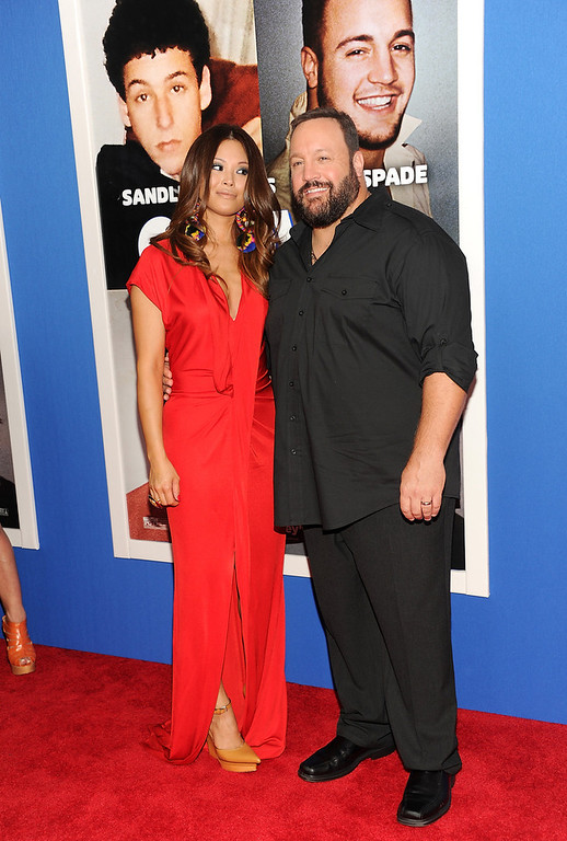 """. Actor Kevin James and wife Steffiana De La Cruz attend the premiere of \""""Grown Ups 2\"""" at the AMC Loews Lincoln Square on Wednesday, July 10, 2013 in New York. (Photo by Evan Agostini/Invision/AP)"""