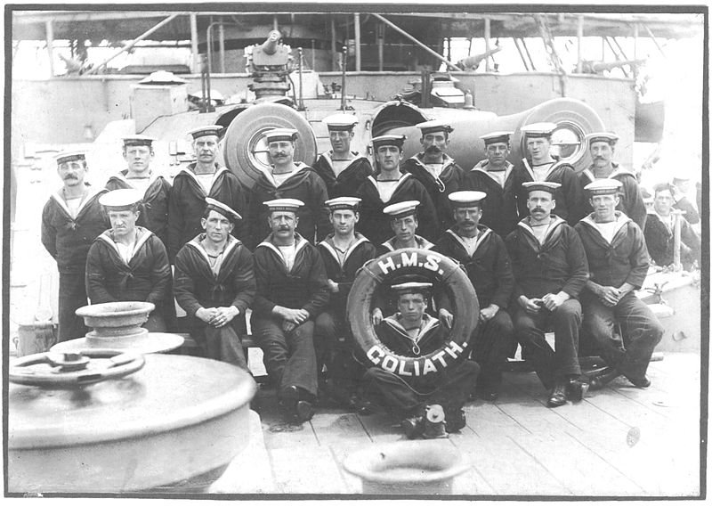 The crew of HMS.Goliath.