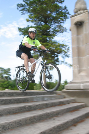 New Britain EMS - Bicycles in Walnut Hill Park -July 7, 2004