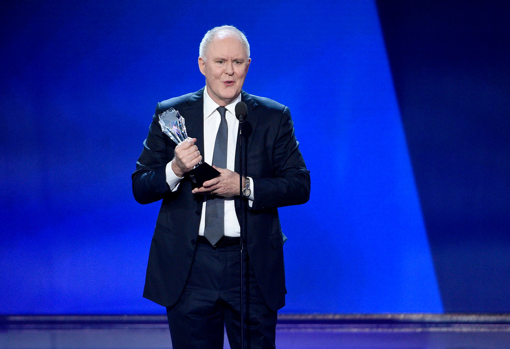 """. John Lithgow accepts the award for best supporting actor in a drama series for \""""The Crown\"""" at the 22nd annual Critics\' Choice Awards at the Barker Hangar on Sunday, Dec. 11, 2016, in Santa Monica, Calif. (Photo by Chris Pizzello/Invision/AP)"""
