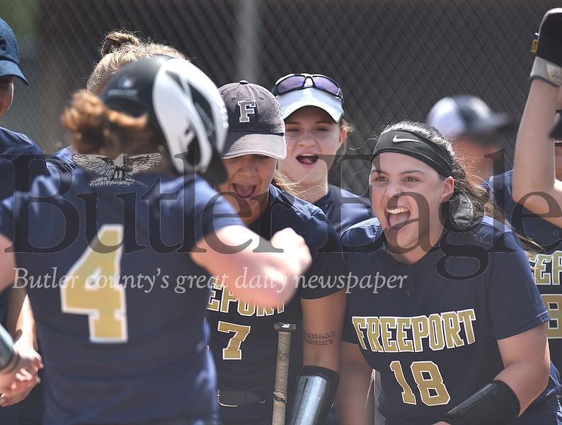 Freeport vs Waynesburg WPIAL 3A girls softball Quarterfinal game at Plum High school